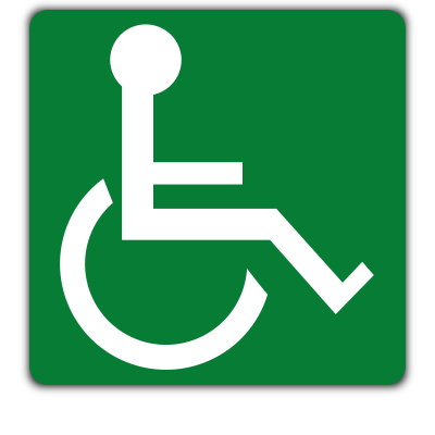 wheelchair safety sign